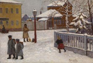 Гермашев Михаил Зимняя уличная сцена