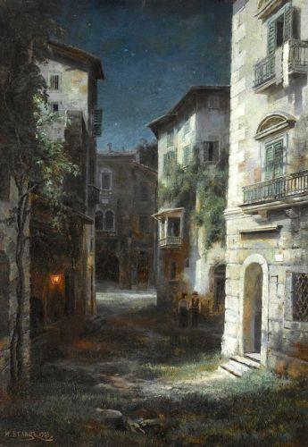 Улица в лунном свете
