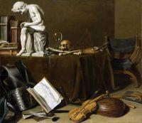 Натюрморт Vanitas с музыкальными инструментами