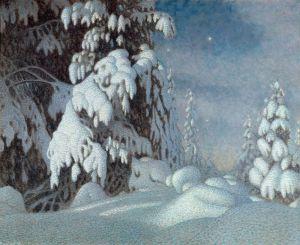 Фьюэстад Гюстав Зимний лунный свет
