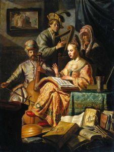 Рембрандт Харменс ван Рейн Аллегория музыки