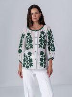 Льняная блузка с аппликацией Zagadka