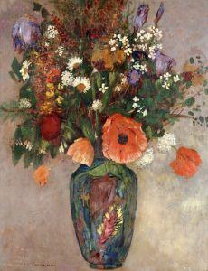 Редон Одилон Букет цветов в вазе