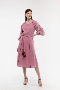 Женские вышиванки Платье вышиванка Ясочка пудра