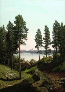 Мещерский Арсений Пейзаж с озером