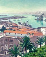 Пальмы на фоне порта Ага