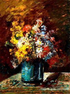 Печатные картины на холсте Цветы