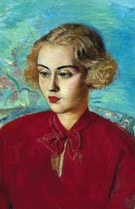 Модерн Жінка в червоному