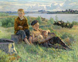 Богданов-Бельский Николай Два мальчика