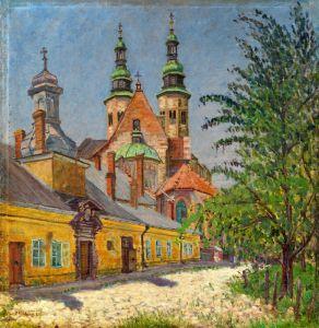 Богданов-Бельский Николай Вид на церковь