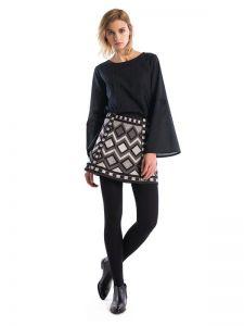 Юбки с вышивкой Вышитая юбка GLOW1