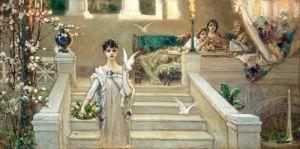 Котарбинский Вильгельм Римская красавица с голубями