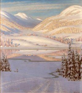 Фьюэстад Гюстав Зимний пейзаж