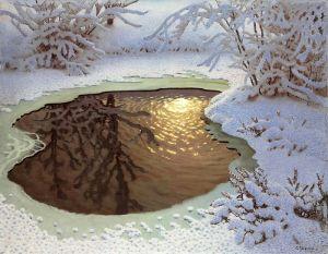 Фьюэстад Гюстав Зимний пейзаж 2