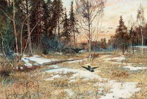 Шультцберг Ансельм Весенний пейзаж в Грангёрде