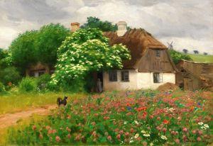Брендекильде Ганс Андерсен Деревенский дом с цветущим деревом