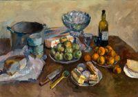 Натюрморт с пирожными и фруктами