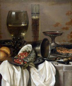 Барокко Натюрморт с бокалами для вина