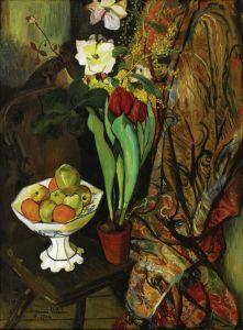 Постимпрессионизм Натюрморт с цветами и фруктами
