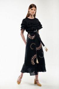 Женские вышиванки Платье вышиванка Панночка черная