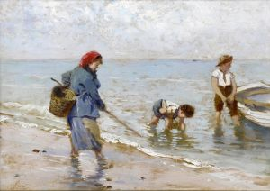 Импрессионизм The clam fishers
