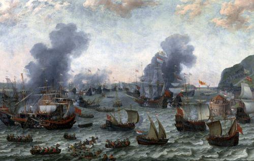 Победа голландцев над испанцами около Гибралтара 25 апреля 1607