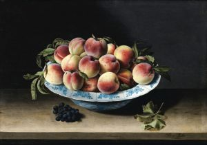 Муайон Луиза Натюрморт с персиками в китайском фарфоре