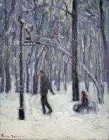 Зимний парк. Катание на санях