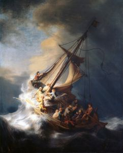 Рембрандт Харменс ван Рейн Христос во время шторма на море Галилейском