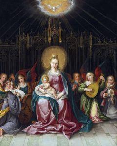 Баллье де Корнелис Старший Мадонна с младенцем на троне