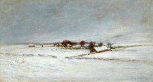 Фаркухарсон Джозеф Ферма в Абердиншир, покрытая снегом