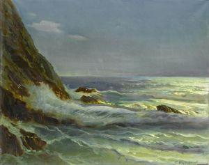 Печатные картины на холсте Скалистый пейзаж