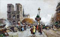 Нотр-Дам вид на Сент-Мишель, Париж