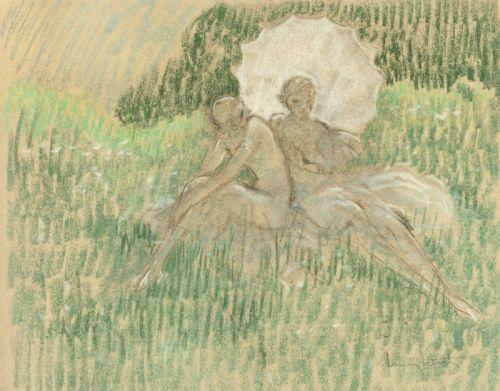 Біла парасолька