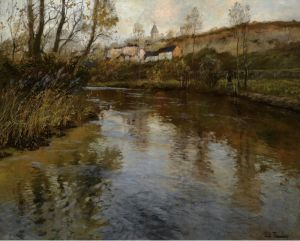 Таулов Фриц Речной пейзаж