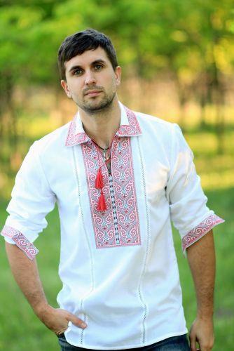 Мужская вышитая рубашка - MD1014C