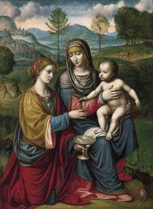 Луини Бернардино Мадонна с младенцем и святой Екатериной