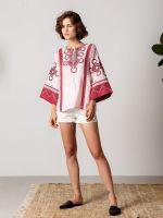Льняная рубашка с геометрическим орнаментом Persy