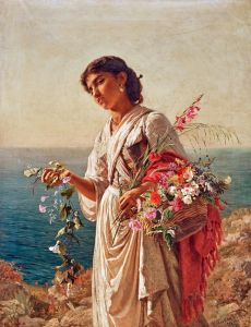 Реализм Цветочница, сцена на Капри
