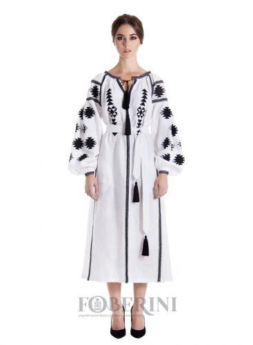 """Сукня-вишиванка """"Біла геометрія"""""""