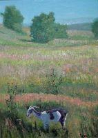 Пейзаж с козой