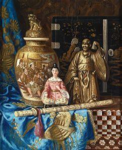 Черноцкий Эрнст Натюрморт с азиатским антиквариатом