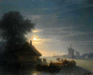 Романтизм Украинский пейзаж ночью