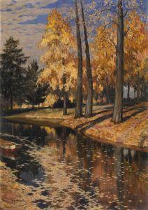 Гермашев Михаил Парк, озеро осенью