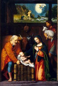 Луини Бернардино Поклонение младенцу Христу