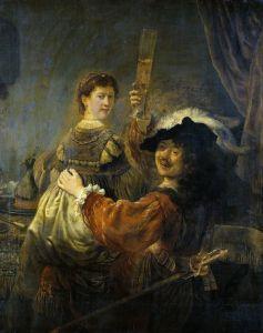 Рембрандт Харменс ван Рейн Рембрандт и Саския в сцене о блудном сыне в таверне