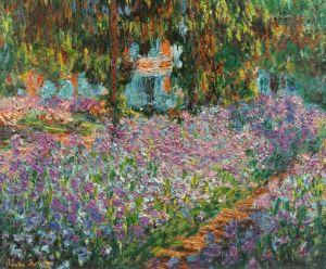 Моне Клод Ирисы в саду Моне