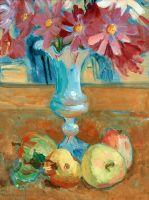 Натюрморт з квітами і фруктами