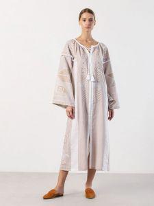Вишиті сукні Вишита сукня ніжно бежевого кольору Zozulya