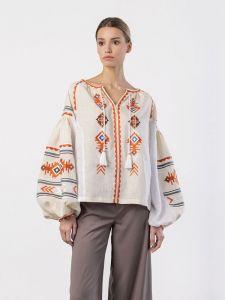 Вишиті жіночі сорочки ручної роботи Лляна вишиванка в бохо стилі Pole
